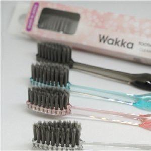 Szczoteczka do zębów Wakka – z czarną krzemionką